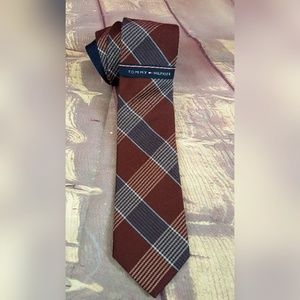 TH Mens Wool Blend NeckTie Large Shirting Check